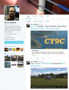 RAC Director Phil McBride CY9C DXpedition via Twitter