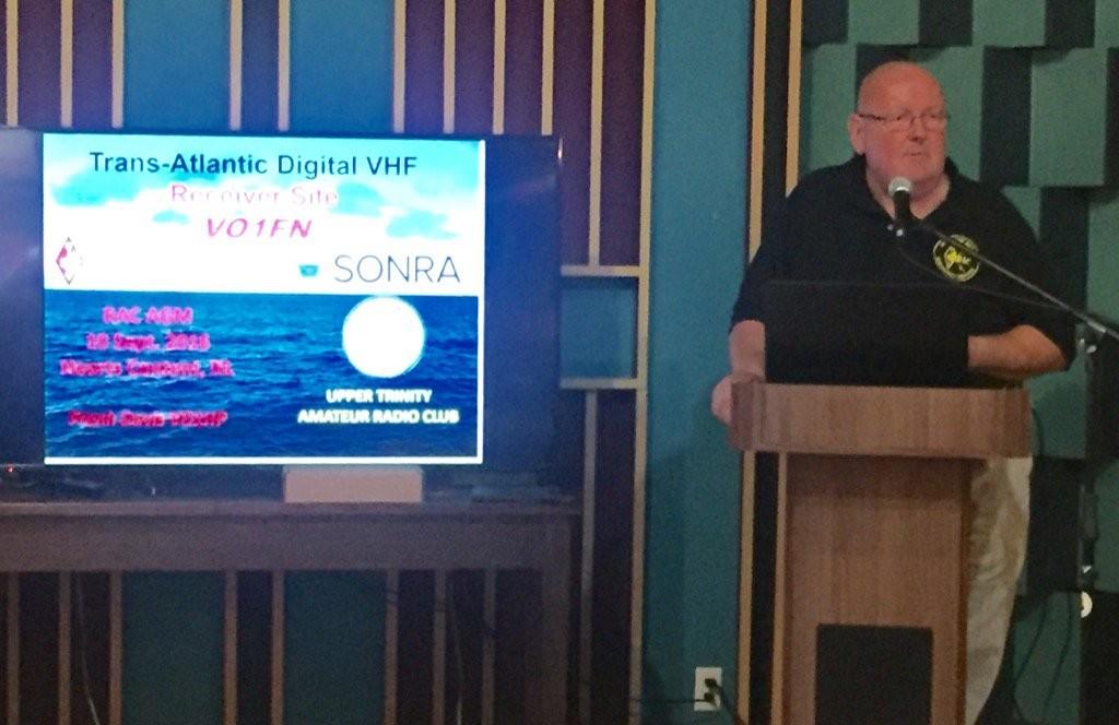 RAC Vice-President and SONRA President Doug Mercer, VO1DTM