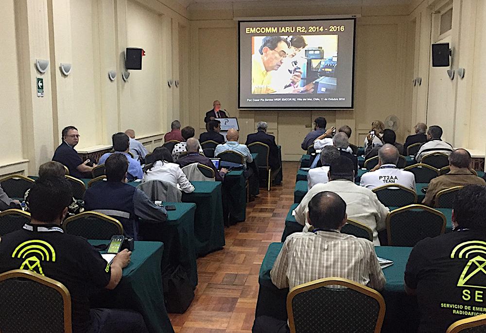 EmComm workshop at the IARU Region 2 meeting.