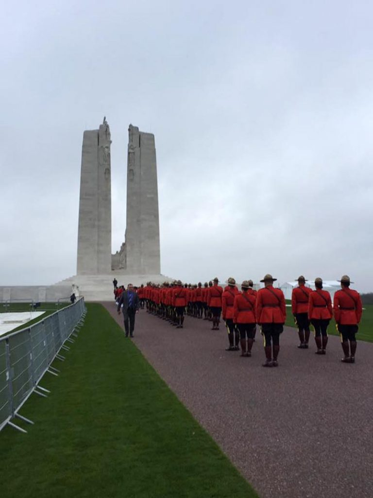 RCMP officers at VE100VIMY Commemoration