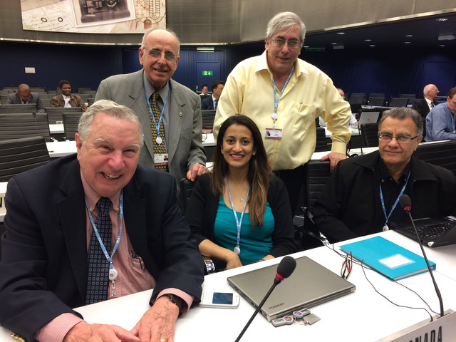 The Canadian delegation to Working Party 5A