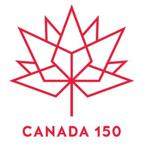 Canada 150 logo with red outline