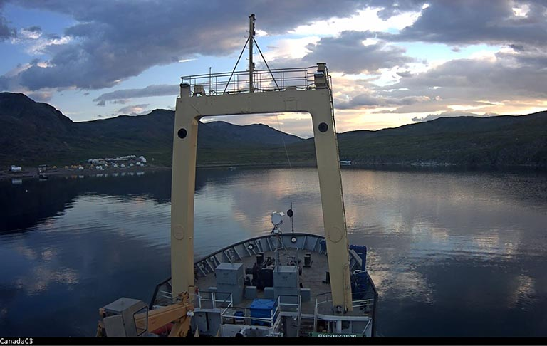 A view from the bridge of The Polar Prince on July 25.