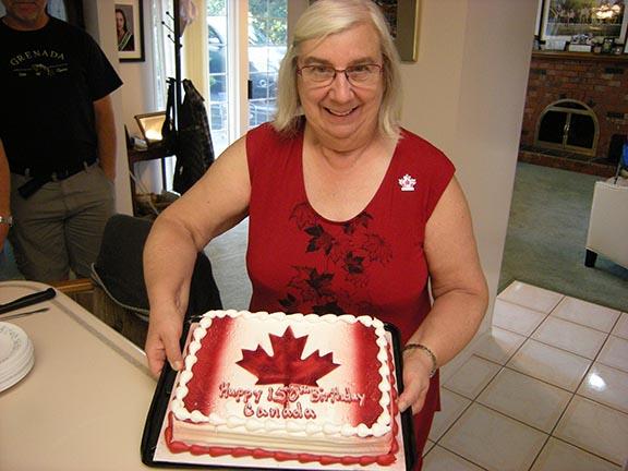 Jeanne, VA7QD, celebrates Canada 150 in style.