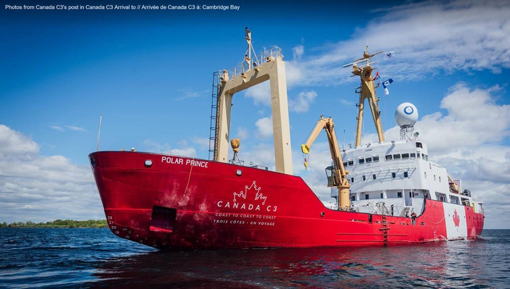 Polar Prince will arrive in Cambridge Bay, Nunavut on August 26.