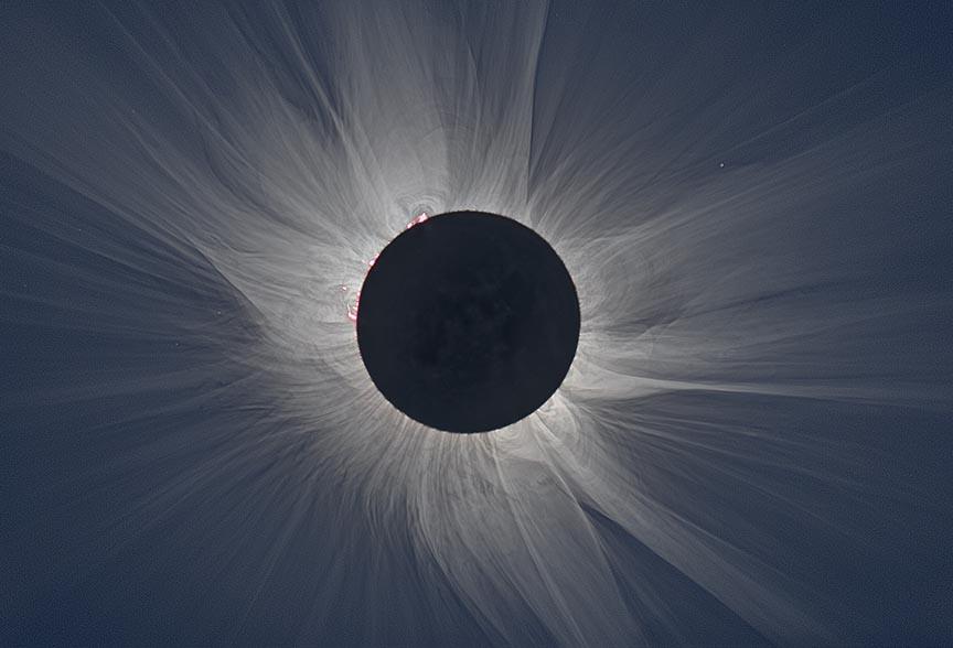 Solar eclipse - white light corona