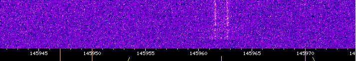 A view of RadFxSat, now AO-91's, first received signal at 12:12 UTC via ZR6AIC's WebSDR.