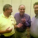 From left: Chris Imlay, W3KD (ARRL General Counsel), Tom Gallagher, NY2RF (ARRL Chief Executive Officer) and Glenn MacDonell, VE3XRA (RAC President) at the Second Annual ARRL Board Meeting in July 2017