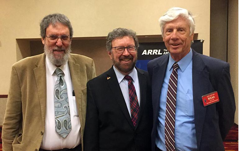 Good first day at ARRL Board meeting with Directors Northwestern Division Jim Pace K7CEX & Southwestern Division Dick Norton N6AA