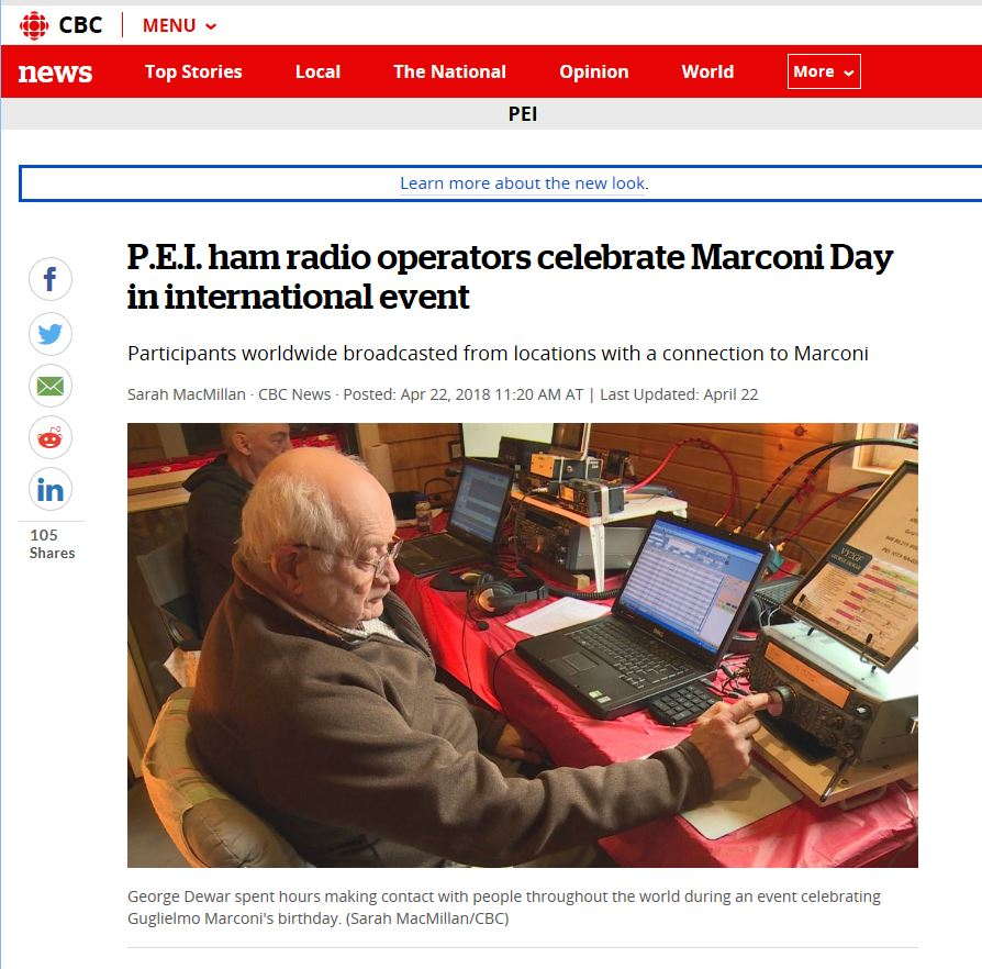 CBC News coverage of International Marconi Day event