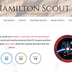 Promotional item for ARISS contact with 58th Hamilton Scout Group