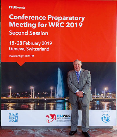 Bryan Rawlings in Geneva, Switzerland at the Conference Preparatory Meeting for WRC 2019