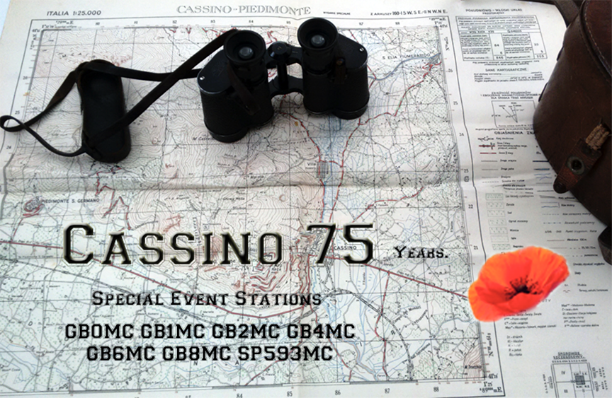 Battle of Cassino 75th Anniversary QSL card