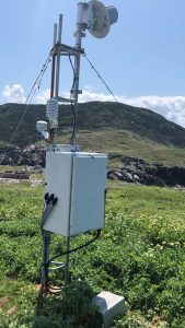 Weather sensors on St Paul Island