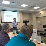 RAC President Glenn MacDonell, VE3XRA, at the Planning Meeting in Moncton, New Brunswick