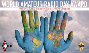World Amateur Radio Day 2020 RAC certificate promo