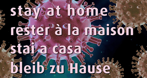 """Stay at Home"" graphic"
