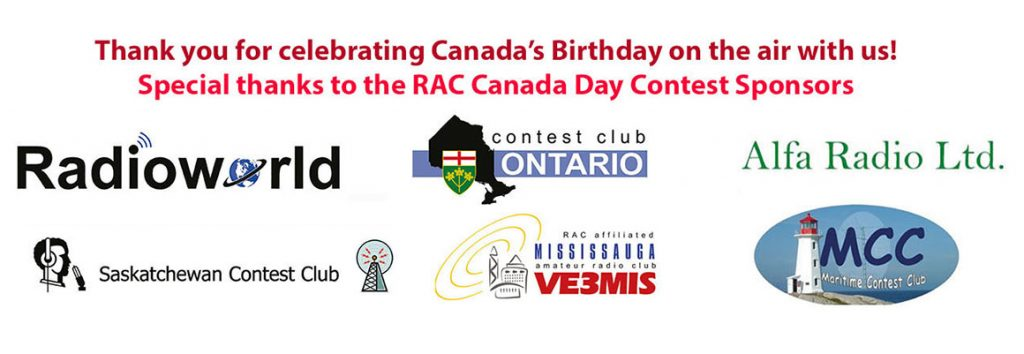 Thank You RAC Canada Day Contest Sponsors