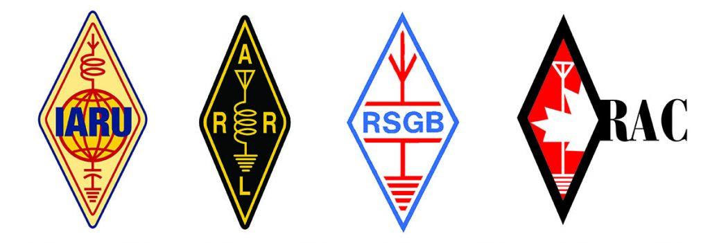 IARU, ARRL, RSGB and RAC logos