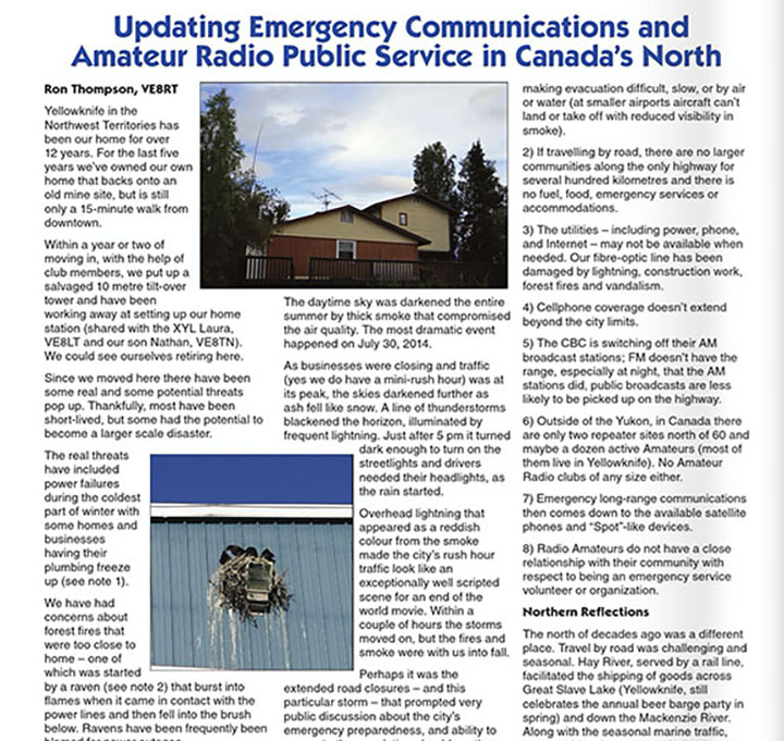 Ron Thompson Emergency Communications in Canada's North
