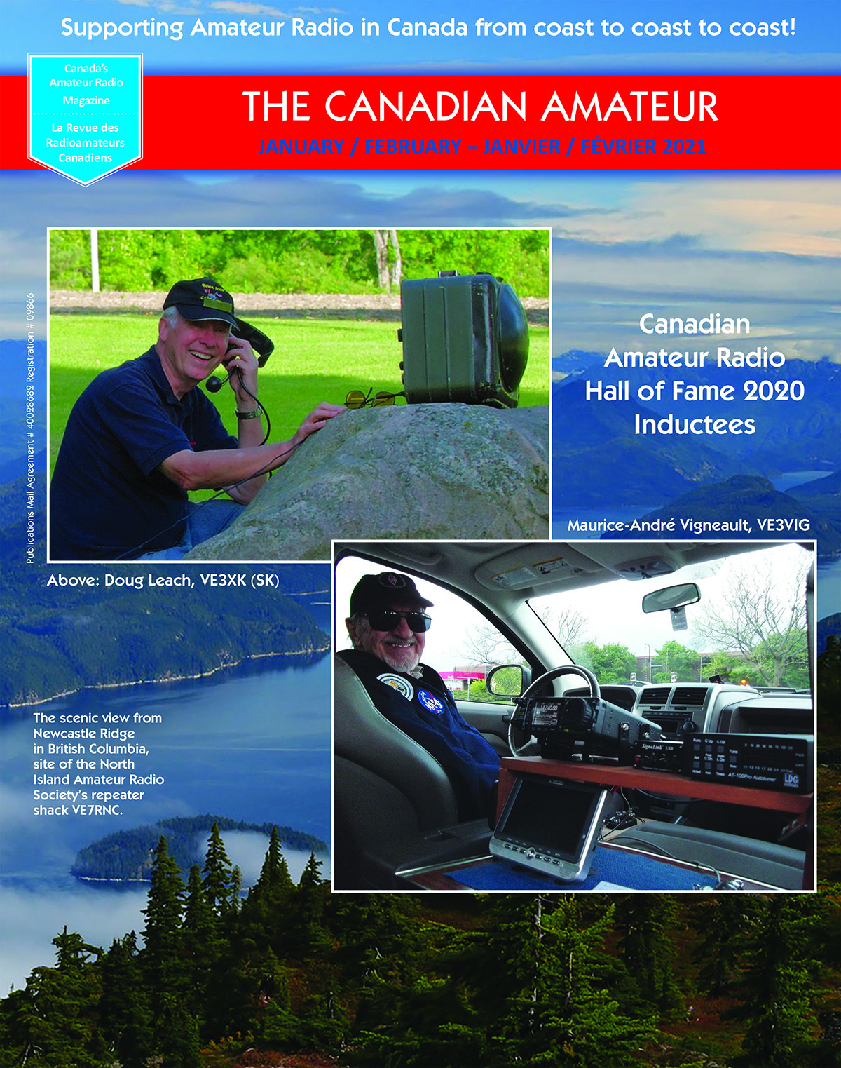 Cover of January-February 2021 issue of The Canadian Amateur magazine