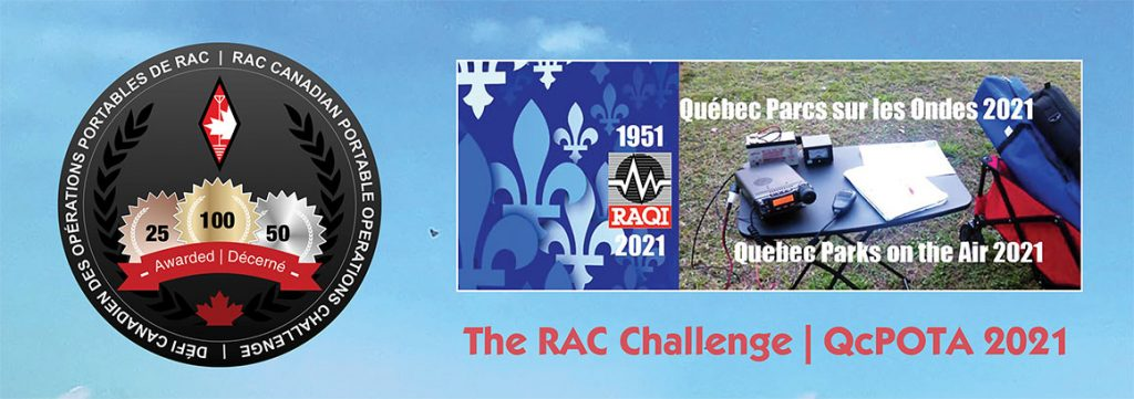 Slide for RAC Challenge and Quebec Parks On The Air